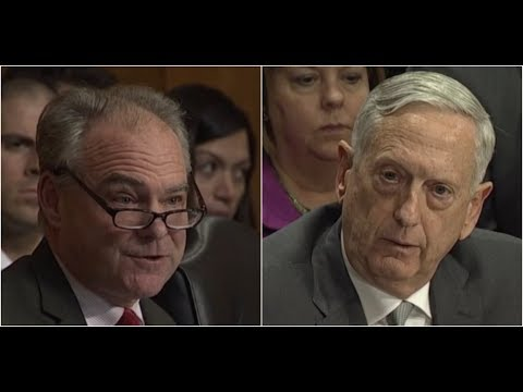 Download Youtube: Secretary James Mad Dog Mattis has HEATED Debate with Tim Kaine on Authorization of Military Force