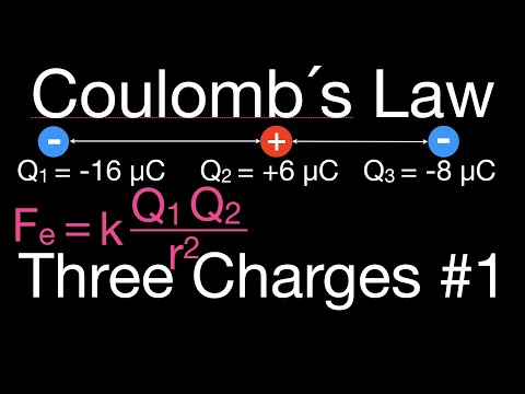 Coulomb's Law, Force Three Charges in a Straight Line