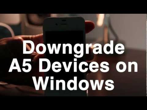 How to Downgrade A5 Devices on Windows with RedSn0w 0.9.11b1
