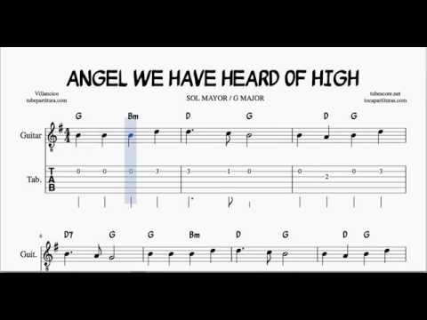 Angel We Have Heard of High Tabs Sheet Musc for guitar G Major ...
