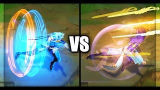 Pulsefire Fiora vs Soaring Sword Fiora Epic Skins Comparison (League of Legends)