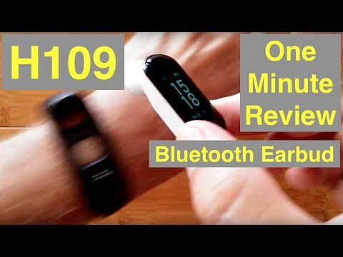 BILIKAY H109 Combo Smart Bracelet / Earphone, Blood Pressure, Fitness Tracker: One Minute Overview thumbnail