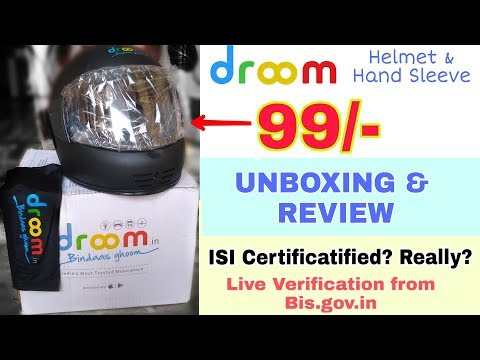 {UNBOXING} 99/- Helmet From Droom. Durable, Worth Buying?