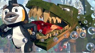 Minecraft | ESCAPE FROM T-REX! Dinosaur + Jurassic Park = RUN! (T-Rex Dinosaur Escape)