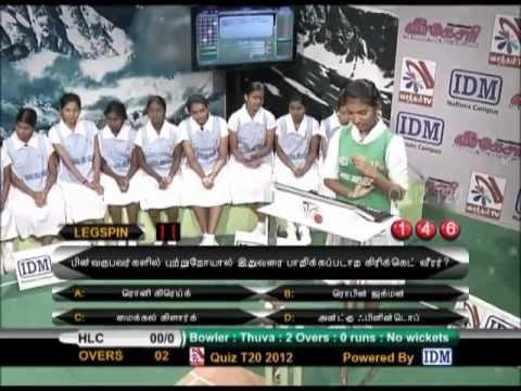 Quiz T20 2012 Semifinals-2 Uduvil Girls' College Vs Hindu Ladies College