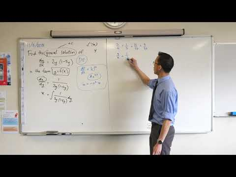 Differential Equation in terms of Dependent Variable (1 of 2: Partial Fractions)