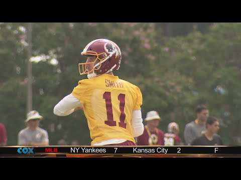 All eyes on Alex Smith at day one of Redskins Training Camp