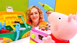 Spielspaß mit Nicole und Peppa Wutz. Spielzeugvideo für Kinder