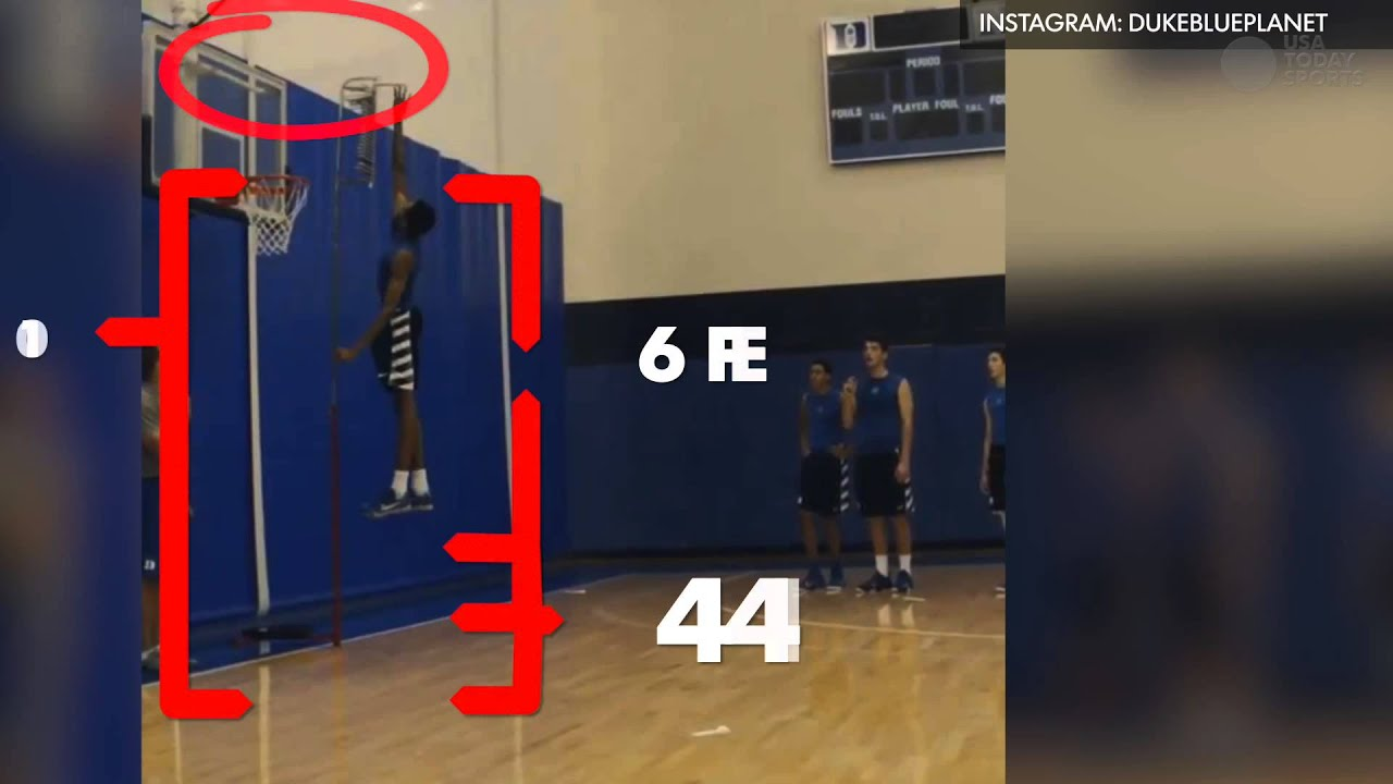 Zion Williamson Duke freshman has an insane vertical leap - YouTube