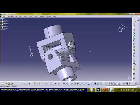 UNIVERSAL JOINT PART DESIGN & ASSEMBLY USING CATIA V5