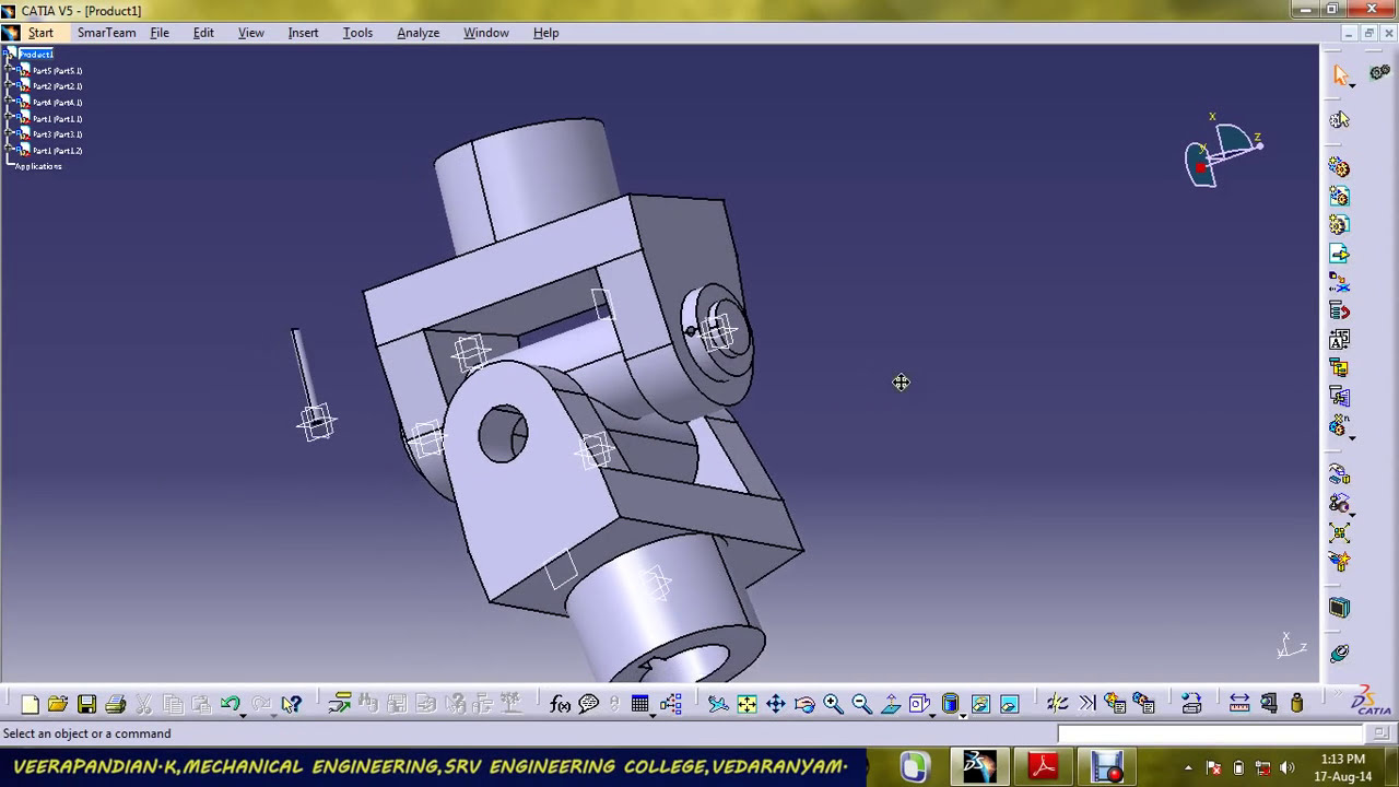 Universal Joint Part Design Amp Assembly Using Catia V5