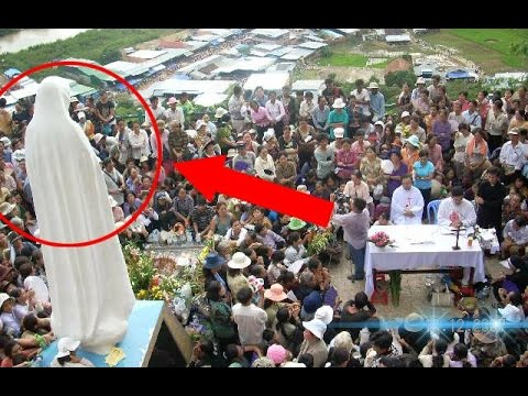 Virgin Mary Moving Statue Caught On Camera - YouTube
