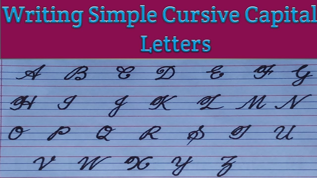 Abcd Cursive Writing Capital Letter | Letter Template