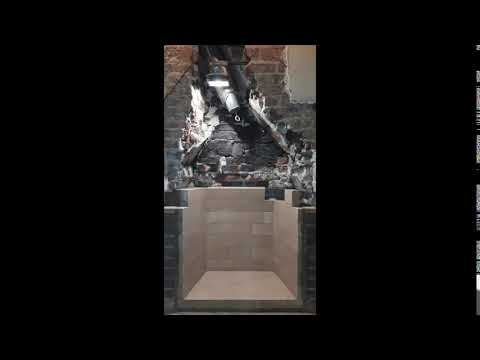 Behind the scenes on custom fireplace