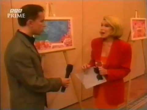 """Joan Rivers fooled by Stephanie Beacham - practical joke """"Gotcha Award"""" BBC 1997"""
