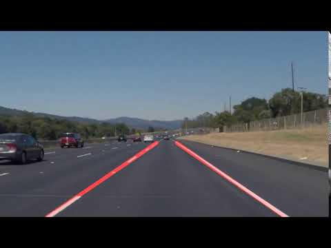 Self Driving Car Project 1 - Finding Lane Lines (video 1)