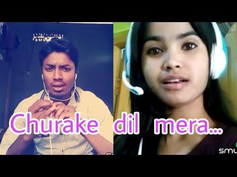 Churake dil mera ghuriya challi.. My karaoke 74