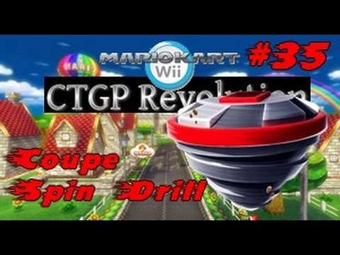 Mario kart wii ctgp revolution 35 coupe spin drill youtube for Coupe miroir mario kart wii