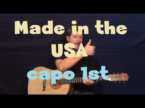 Demi lovato made in the usa. Acoustic guitar tutorial. Youtube.