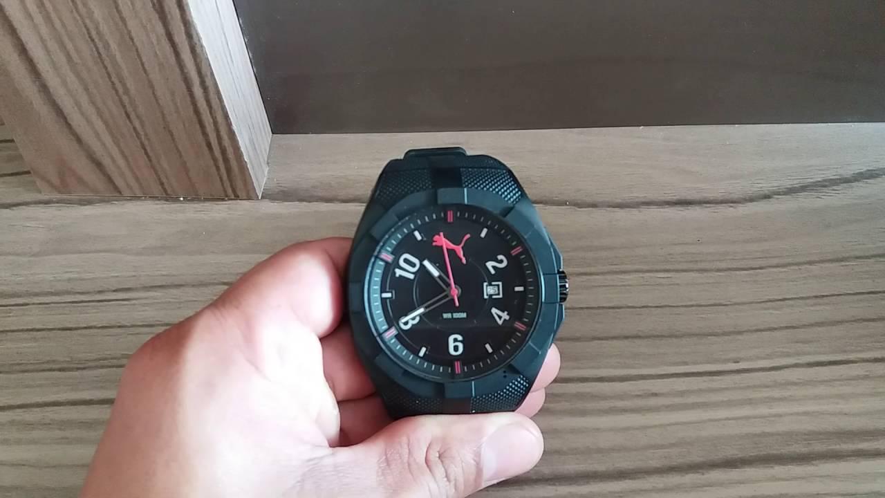 4b486bb126a Relógio Puma Esportivo 96220GPPMPP1 - YouTube