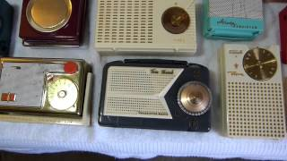 "100th video celebration! Early American pocket transistor radios (all of the ""firsts"" I have)"