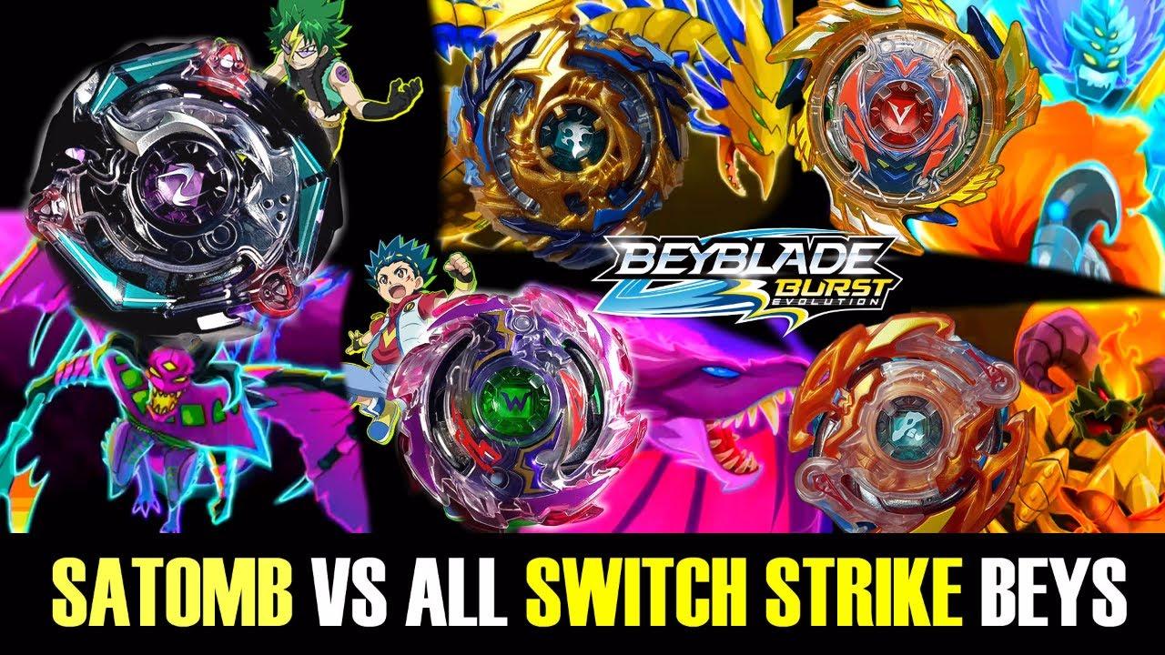 Kinetic Satomb S3 Vs All Switch Strike Beys Beyblade Burst Evolution