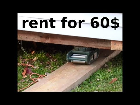 How to move a storage shed easily with moving rollers (roller skids) 12' x 18' building