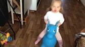 Резиновый прыгун ослик - YouTube
