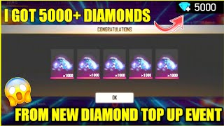 I Got 5000 Diamonds From New Diamond Top Up Event Free Fire 2020 Youtube