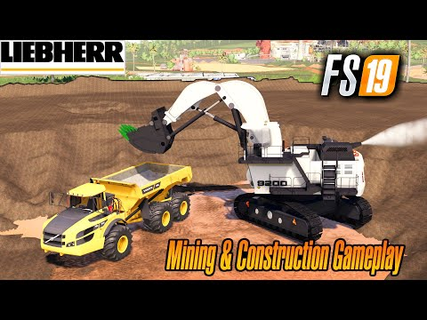 FS 19 Mining & Construction Economy Map Working With The Shovel Farming Simulator 2019 Mods
