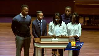 Video: Det. Sean Suiter's kids pay emotional tribute at father's funeral