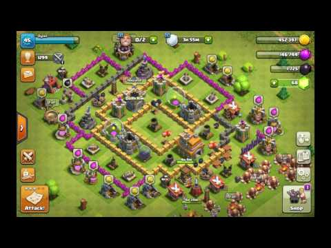 attact ing kn clash of clans