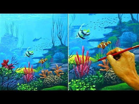 Acrylic Painting Lesson | Underwater by JM Lisondra