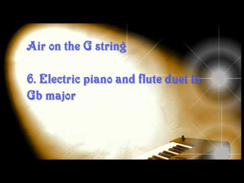 Classical music for weddings - air on the G string piano organ solo flute duet Bach Orchestral suite