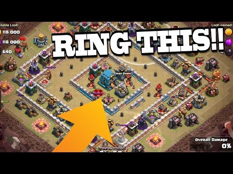 RING THIS! TH12 Destroy the Ring with Queen Walk Bowler Witch | Clash of Clans
