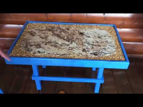how to build a granite coffee table on