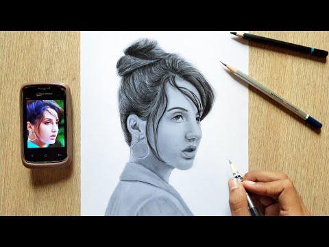 Drawing  Nora fatehi    pencil sketch ?