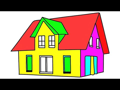 How To Draw A Beautiful House Easy Hand Drawing Make Draw Area Youtube