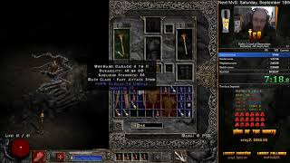 Diablo 2 Barbarian Any% Hell HC RTA Speedrun - 9:54:03
