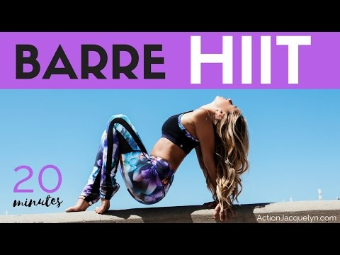 Full Length 20 Min Barre Sculpt and HIIT Workout