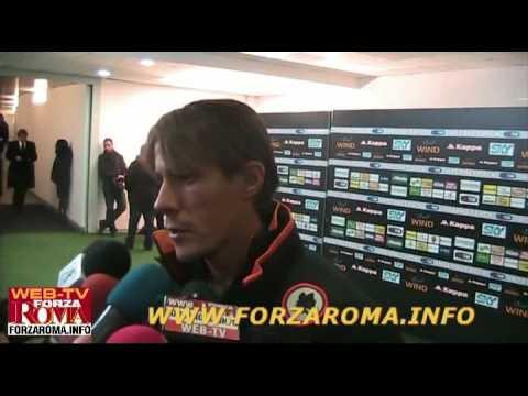 Rodrigo Taddei in zona mista dopo Roma-Parma 2-0 del 20/12/2009