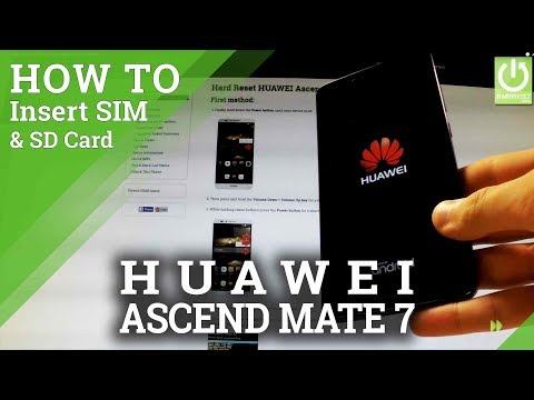 How to Insert SIM & SD in HUAWEI Ascend Mate 7 - SIM & SD Tutorial