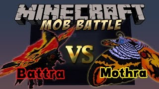 Minecraft Mob Battle:Mothra vs Battra!!!