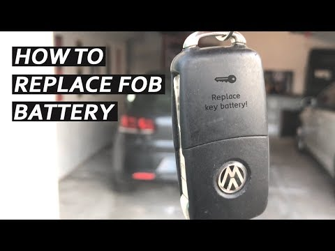 How To Replace Volkswagen Key Fob Batteries!