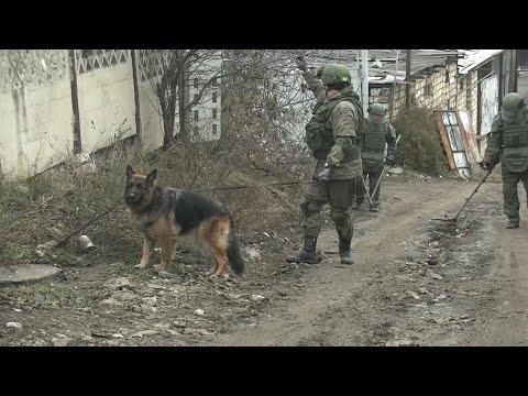 Разминирование территорий частных домов в Степанакерте