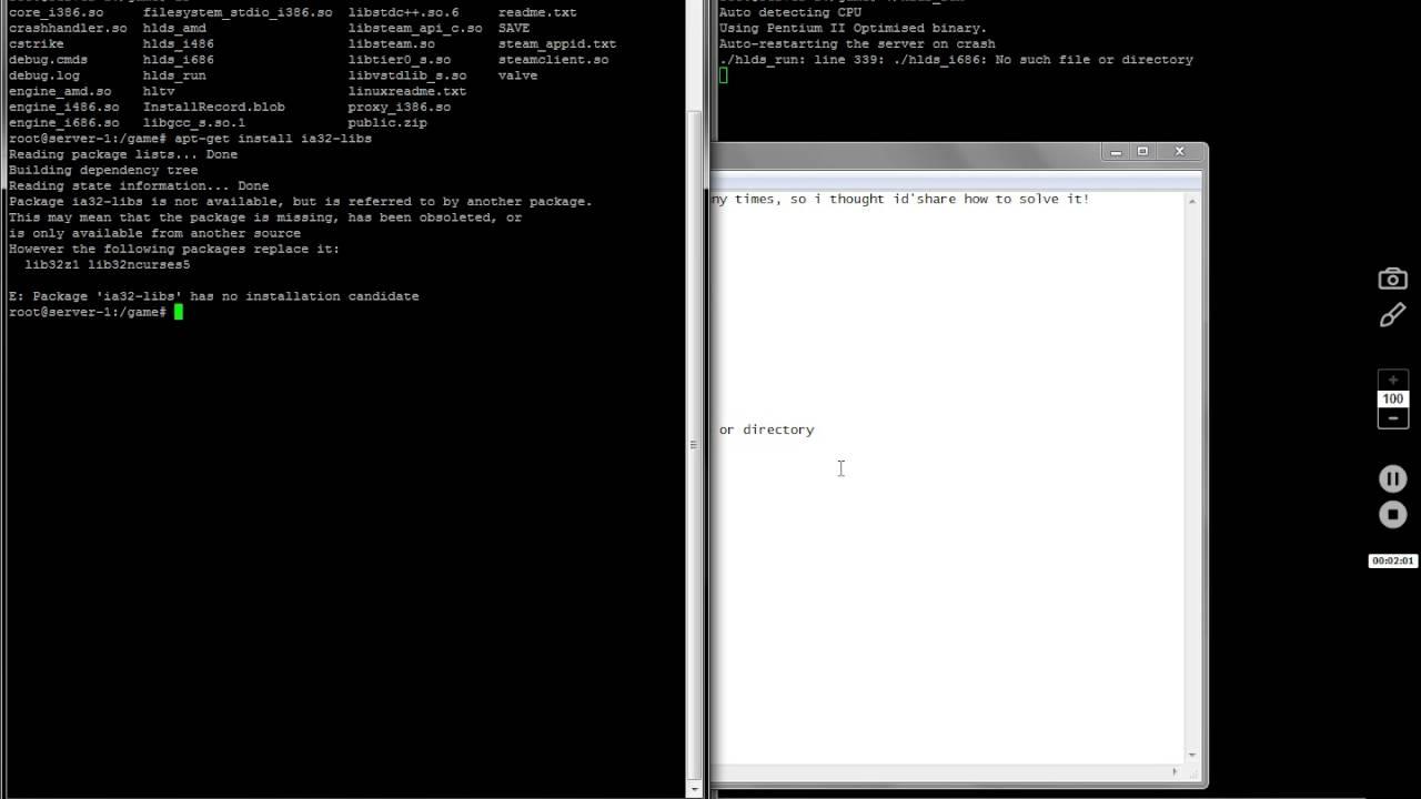 hlds run line 339 hlds i686 No such file or directory debian/ubuntu counter  strike 1 6 server