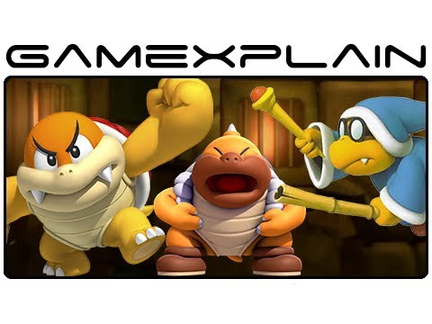All Tower Boom Boom, Kamek & Sumo Bros Boss Fights in New Super Mario Bros. U (Wii U Gameplay)
