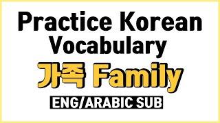 Practice Korean Vocabulary 가족 관계도 |  Family members in Korean