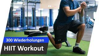 10 Runden HIIT 🔥 300 Wiederholungen - Komplettes Training zum Mitmachen #03   Andiletics