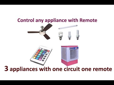remote control circuit for home appliances like fan, tube light, cooler,  3channel remote in hindi